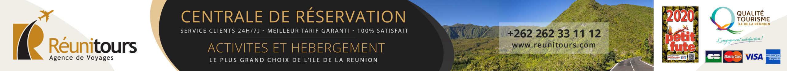 Bandeau centrale de réservation Tourisme Réunion